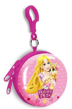 Detská kovová peňaženka s karabínou Princess