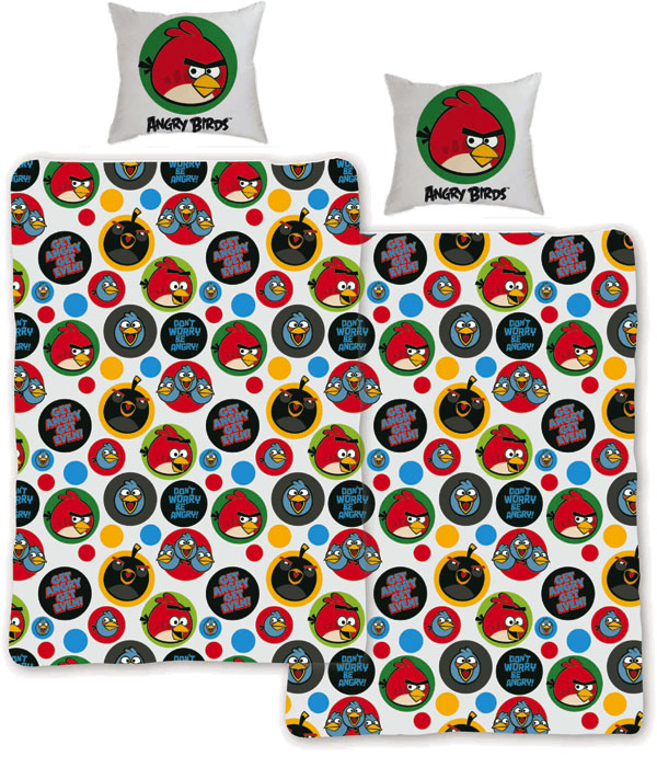 posteľné obliečky, detské návliečky Angry BirdsObliečky Angry Birds Get 140/200