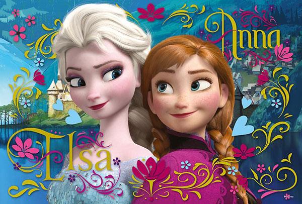 Puzzle Ľadové Kráľovstvo Anna a Elsa 100 dielikov