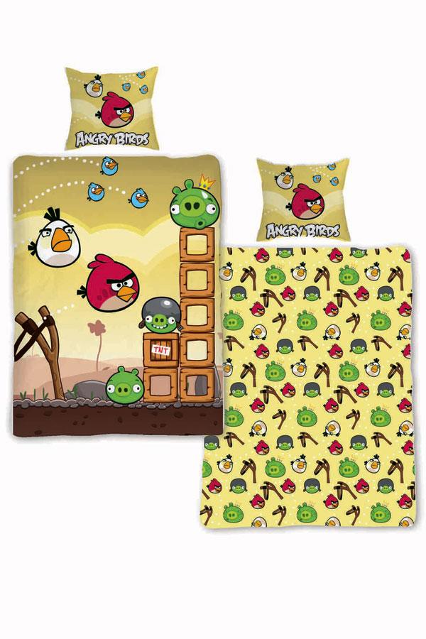 posteľné obliečky, detské obliečky Angry Birds Angry BirdsObliečky Angry Birds Búrka 140/200