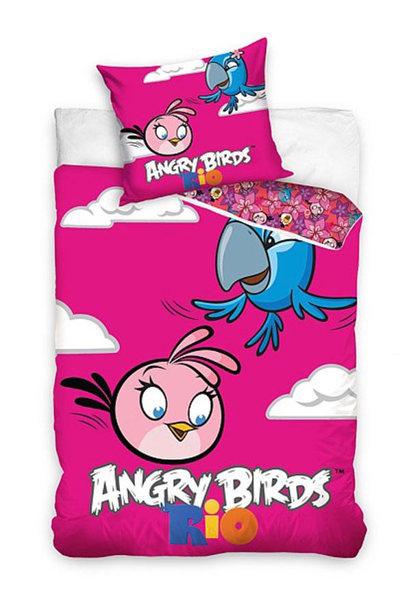 posteľné obliečky, detské návliečky Angry BirdsObliečky Angry Birds Rio Stella a Perla 140/200