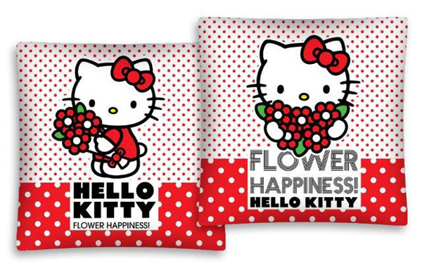 Povlak na vankúšik Hello Kitty kytičky 40/40