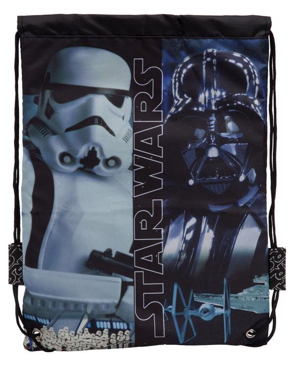 Taška na telocvik a prezúvky Star Wars Black 40 cm