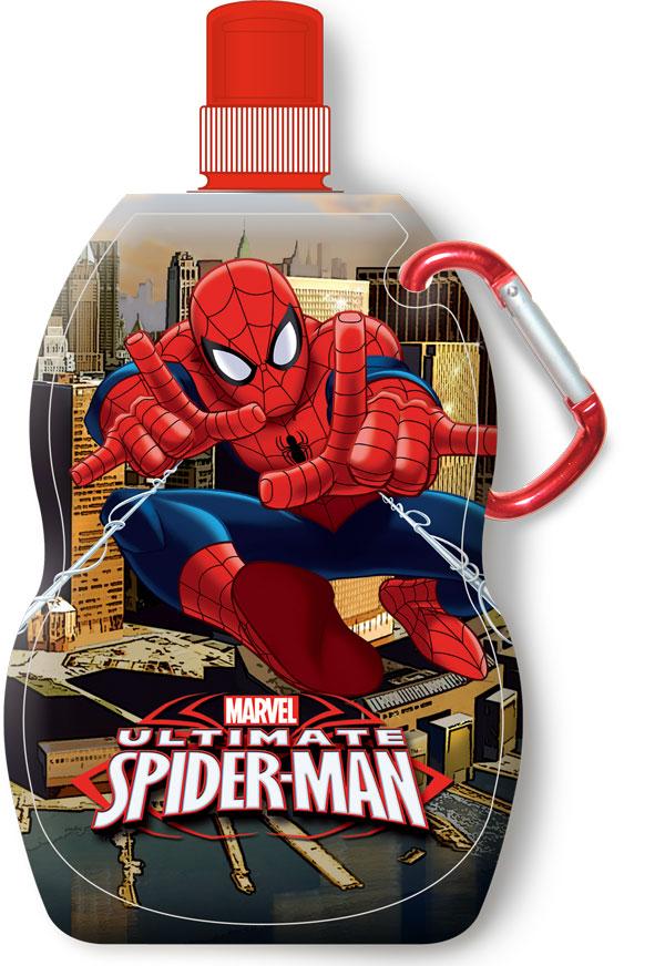 Fľaša na pitie s karabínou Spiderman 330 ml