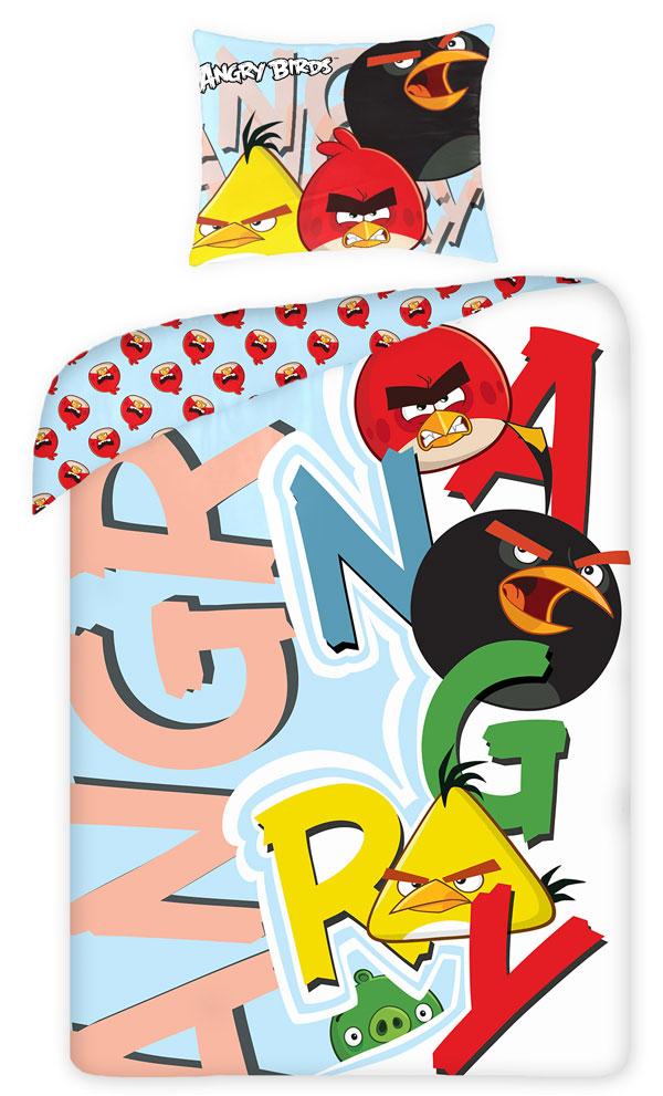posteľné návliečky, detské obliečky Angry BirdsObliečky Angry Birds písmená 140/200