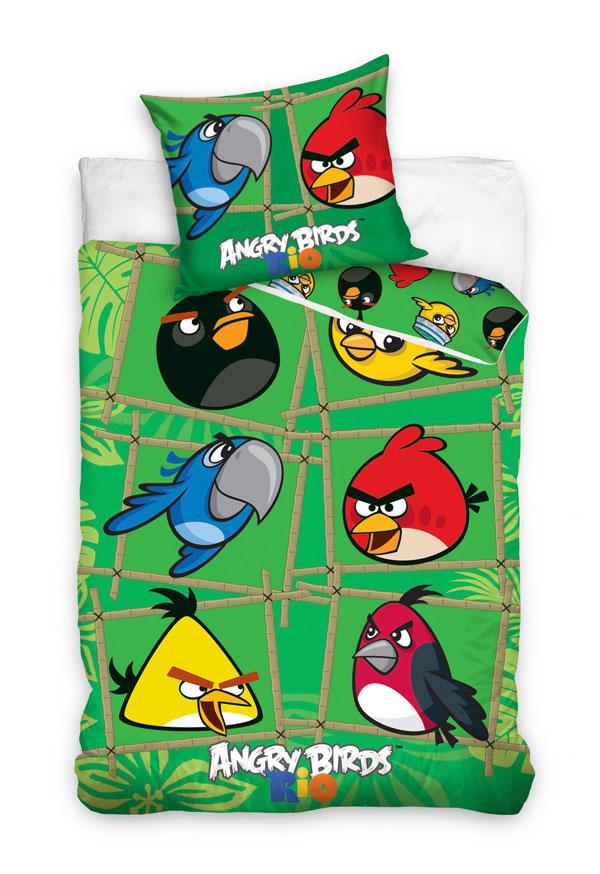 posteľné návliečky, detské obliečky Angry BirdsObliečky Angry Birds Rio Bamboo 140/200