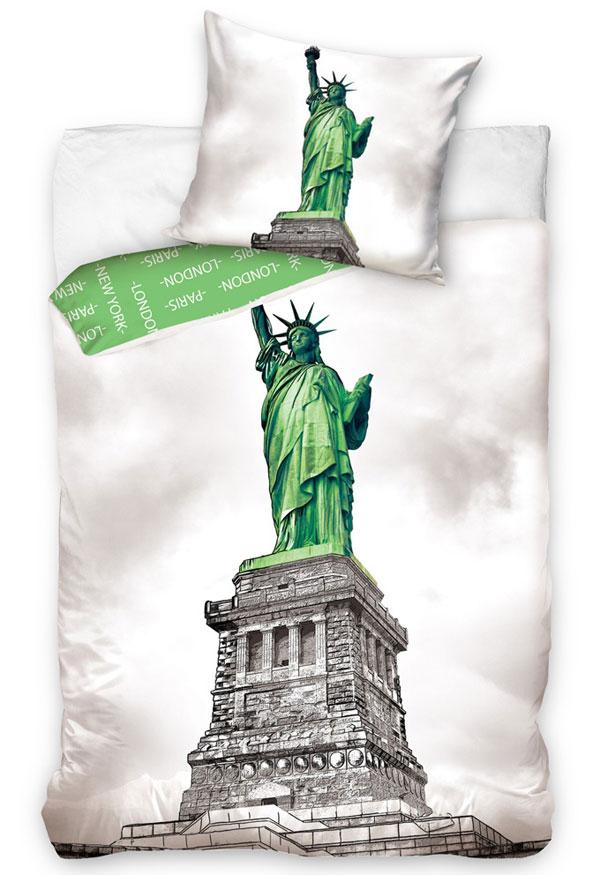 Obliečky New York Socha Slobody 140/200