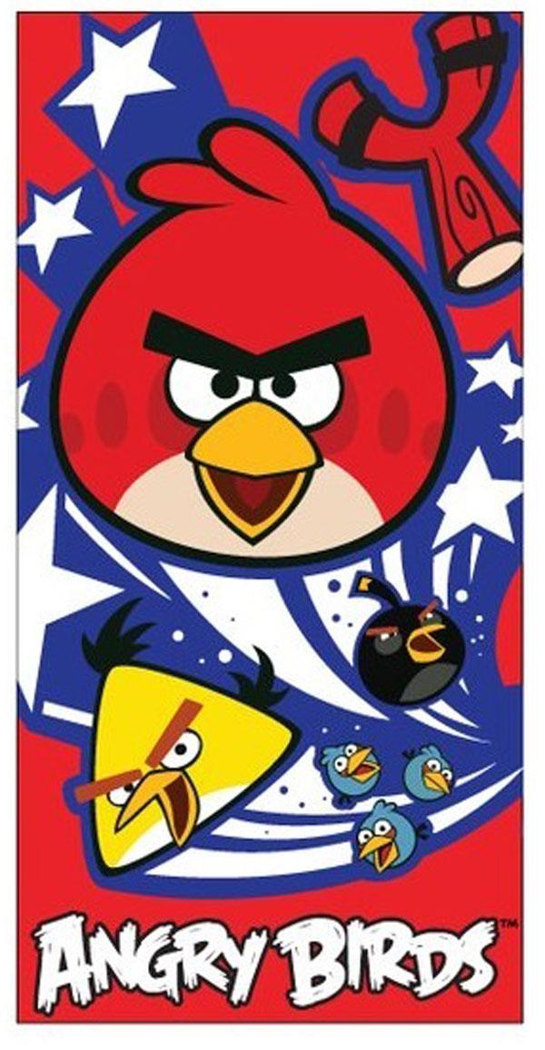 Plážová osuška, detský uterák Angry BirdsDetská osuška Angry Birds červená 70/140