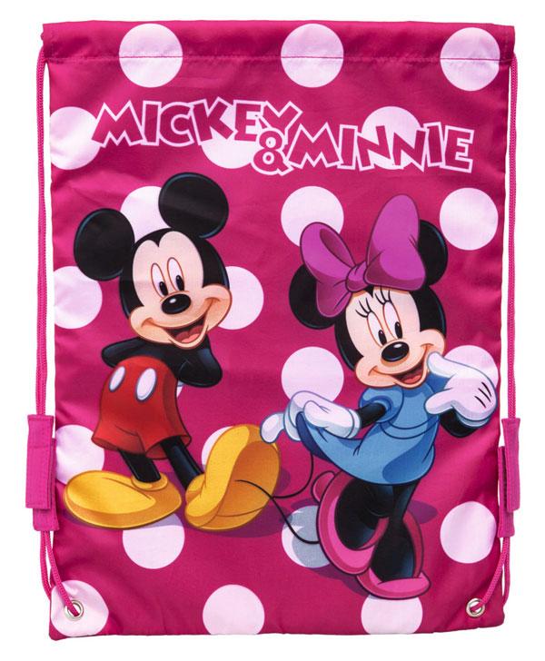 Taška na telocvik a prezúvky Mickey a Minnie bodky 40 cm