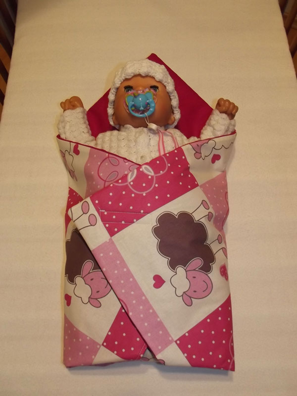 Rýchlozavinovačka pre bábiky Ovečky (BAVLNENá RýCHLOZAVINOVAčKA PRE BáBIKY)