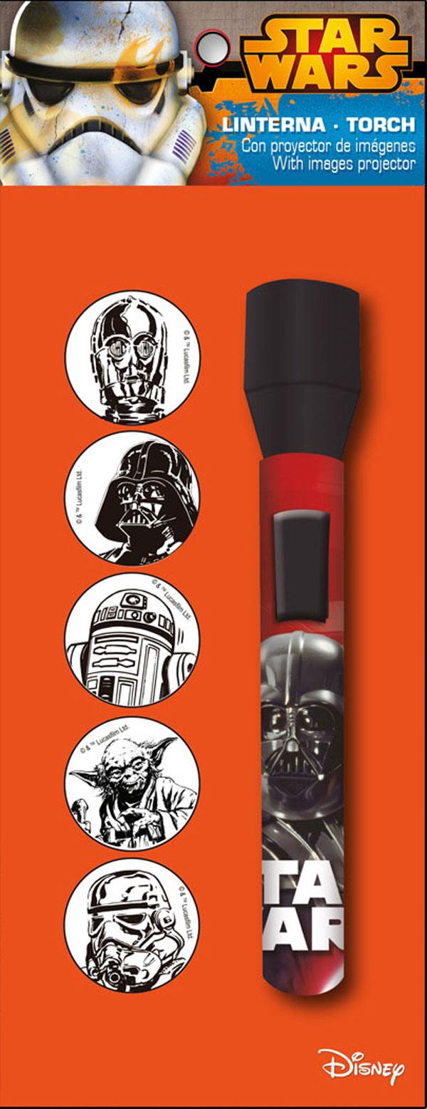 Detské LED svietidlo, baterka Star Wars