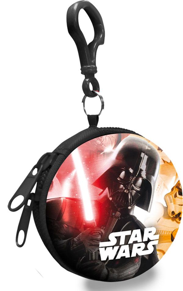 Detská kovová peňaženka s karabínou Star Wars Darth Vader