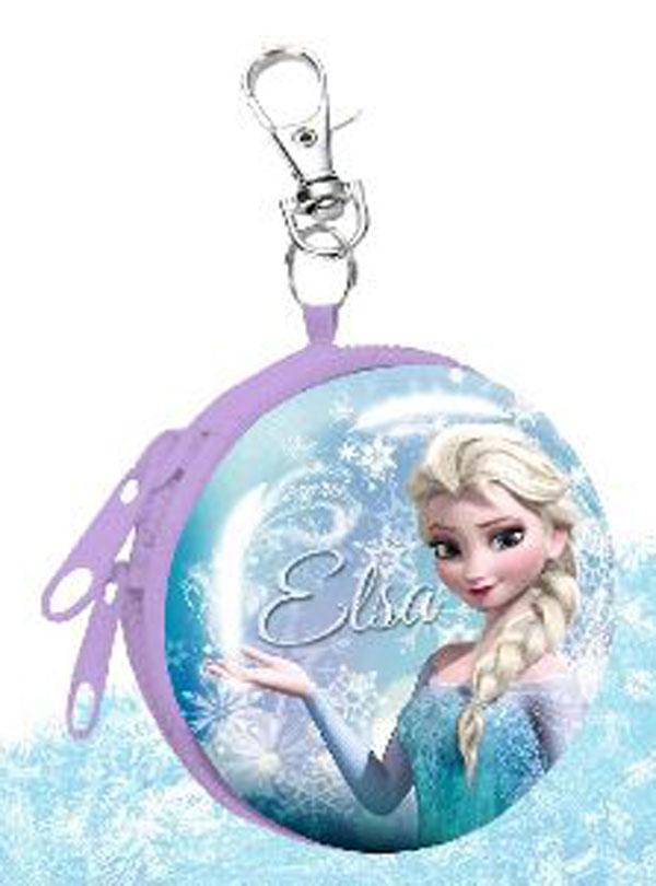 Detská kovová peňaženka s karabínou Ľadové Kráľovstvo Elsa