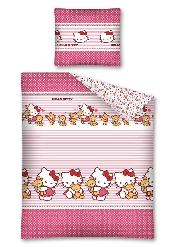 posteľné návliečky  Hello KittyObliečky Hello Kitty Teddy 140/200 cm
