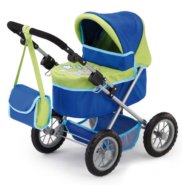 Kočík pre bábiky Bayer Trendy modro-zelený