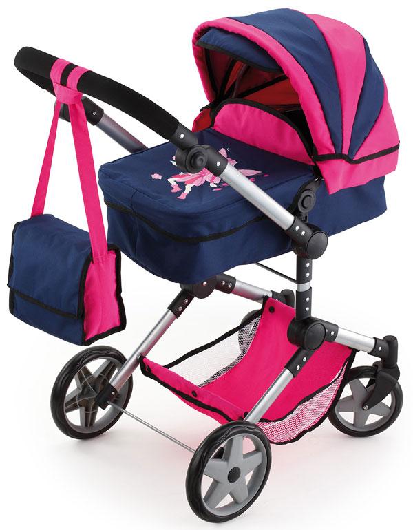 Kočík pre bábiky Bayer Neo Pro modro-ružový