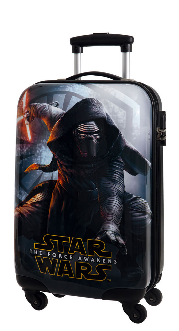 detský ABS kufor na cestyCestovný kufor ABS Star Wars VII Black 55 cm