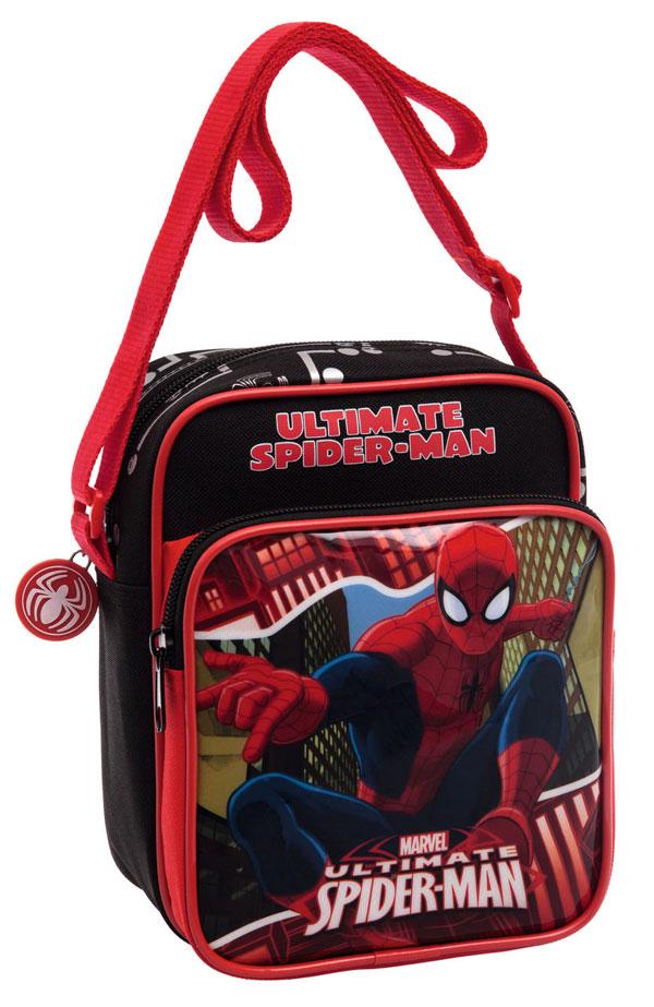 Taška cez rameno s vreckom Spiderman Red City 19 cm