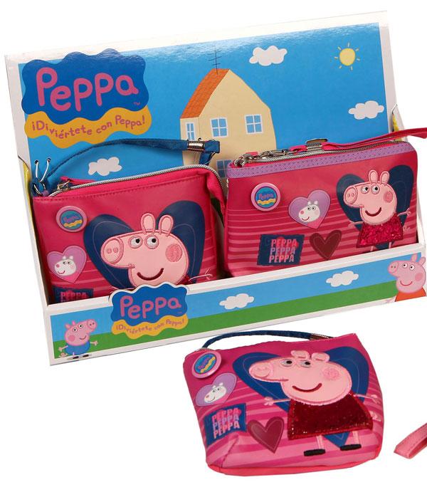 Kabelka a peňaženka Peppa Pig Srdce