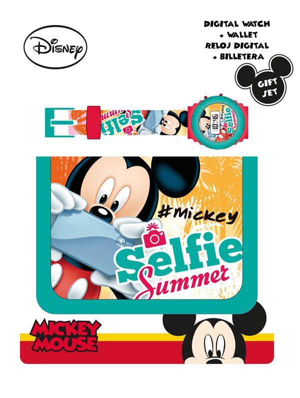Darčeková sada Peňaženka a hodinky Mickey Selfie