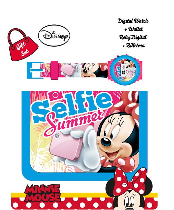 Darčeková sada Peňaženka a hodinky Minnie Selfie