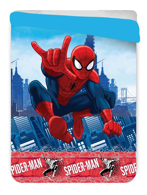 Letná prešívaná deka Spiderman 180/260 cm