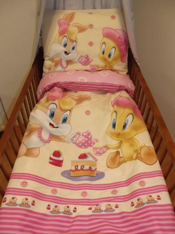 Obliečky do postieľky Looney Tunes ružová 90/130 cm