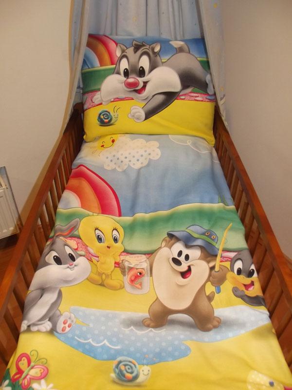 Obliečky do postieľky Looney Tunes modrá 90/130 cm