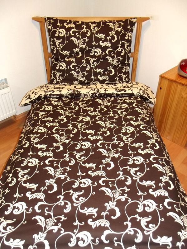Obliečky Elegancia hnedo krémová 140/200 cm