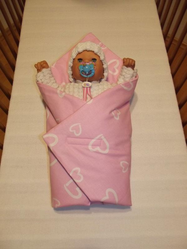 ružová Rýchlozavinovačka pre bábiky srdiečka
