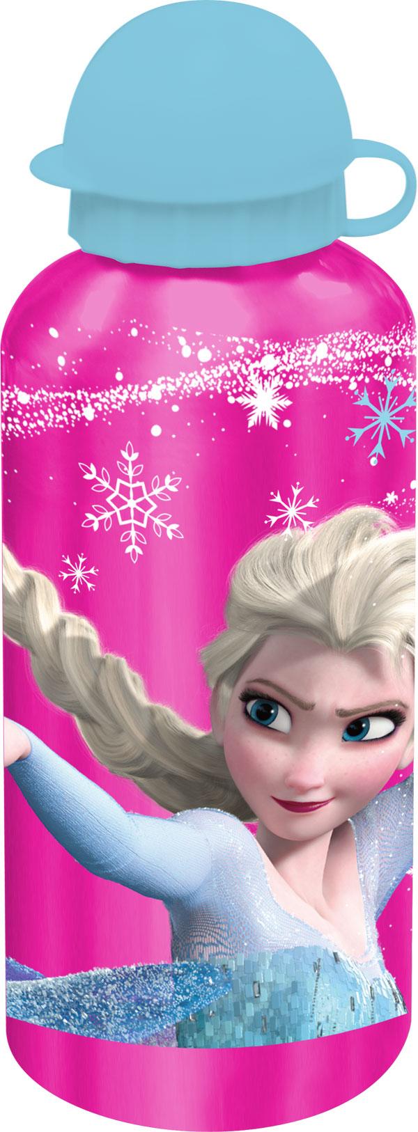 ALU fľaša na pitie Ľadové kráľovstvo Elsa ružova 500ml
