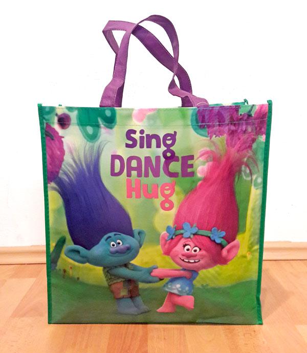 Detská nákupná taška Trollovia Poppy a Vetvoš