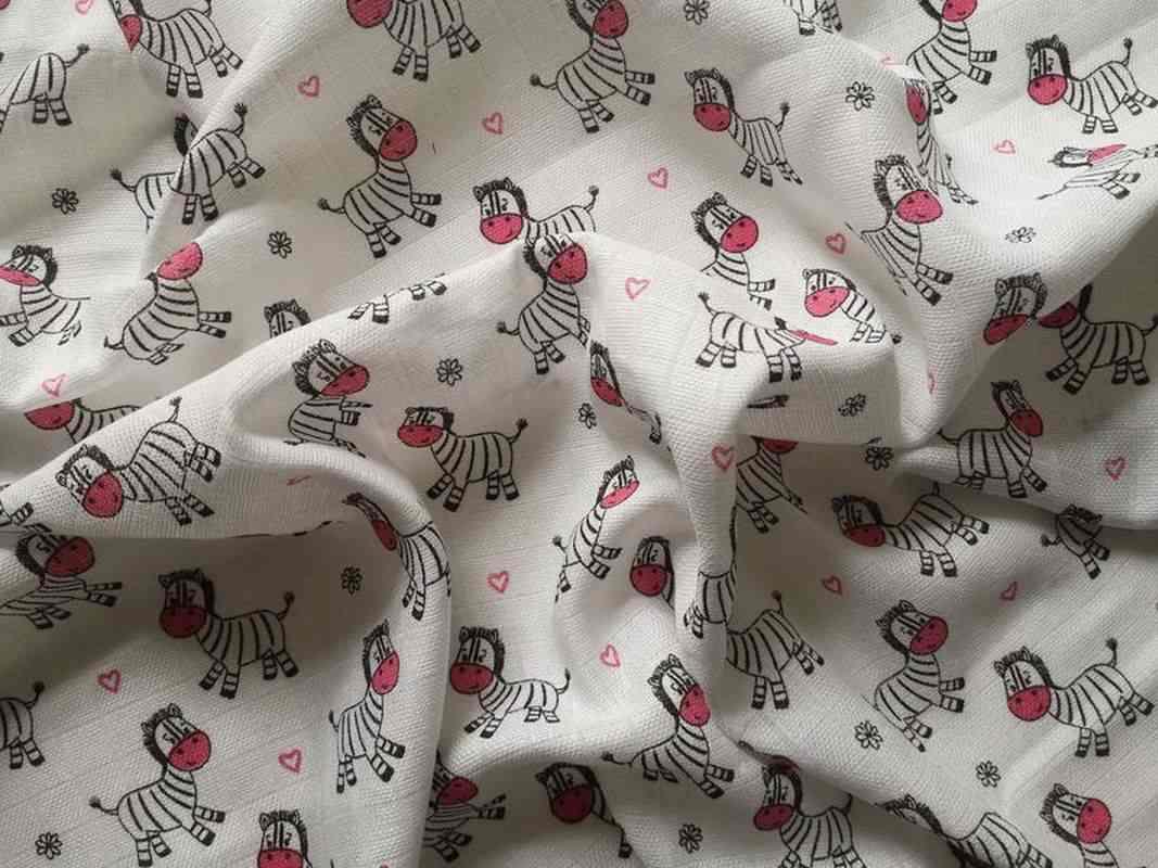 Bavlnená tetra osuška Zebra ružová 90/100