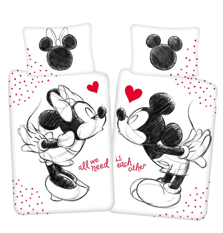 Obliečky Mickey a Minnie All We Need 140/200, 70/90