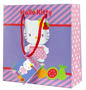 Papírová dárková taštička Hello Kitty fruityDárková taštička na CD/DVD Hello Kitty fruity