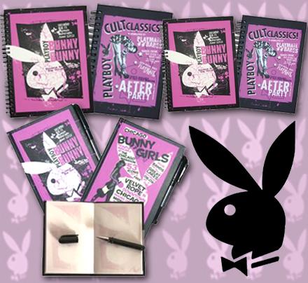Sada 3 zápisníkov Playboy Black and Rapberry