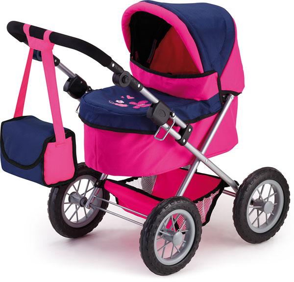 Kočík pre bábiky Bayer Trendy ružovo-modrý
