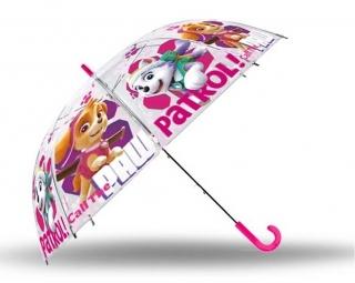 de1739a33 Vystreľovací priehľadný dáždnik Paw Patrol Skye empty